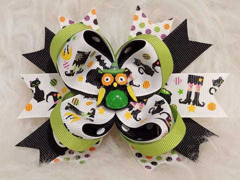 Boutique Stacked Hair Bow - Halloween