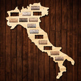 Italy Wine Cork Map