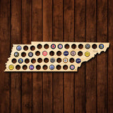 Tennessee Beer Cap Map - Large