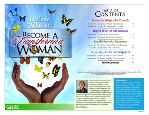 """Become a Transformed Woman"" Course Workbook PDF Download"