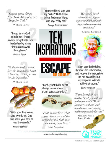 """Escape The Ordinary"" - TEN Inspirations - Quotes Poster Download Free"