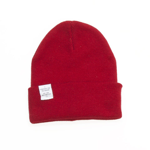 knit beanie- Red