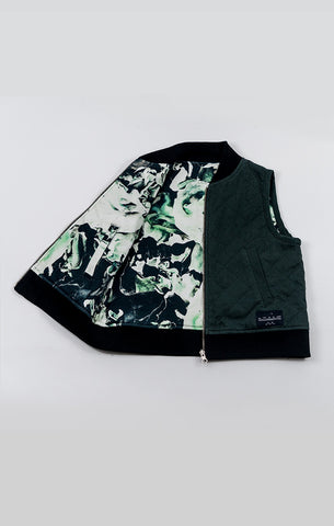 2-Way Quilted Vest - Forest