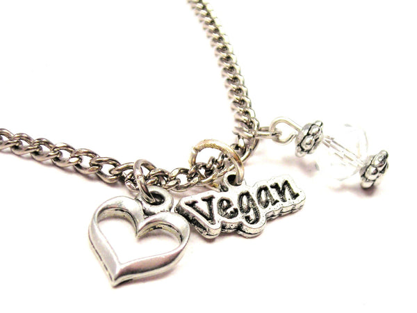 Vegan Necklace with Small Heart