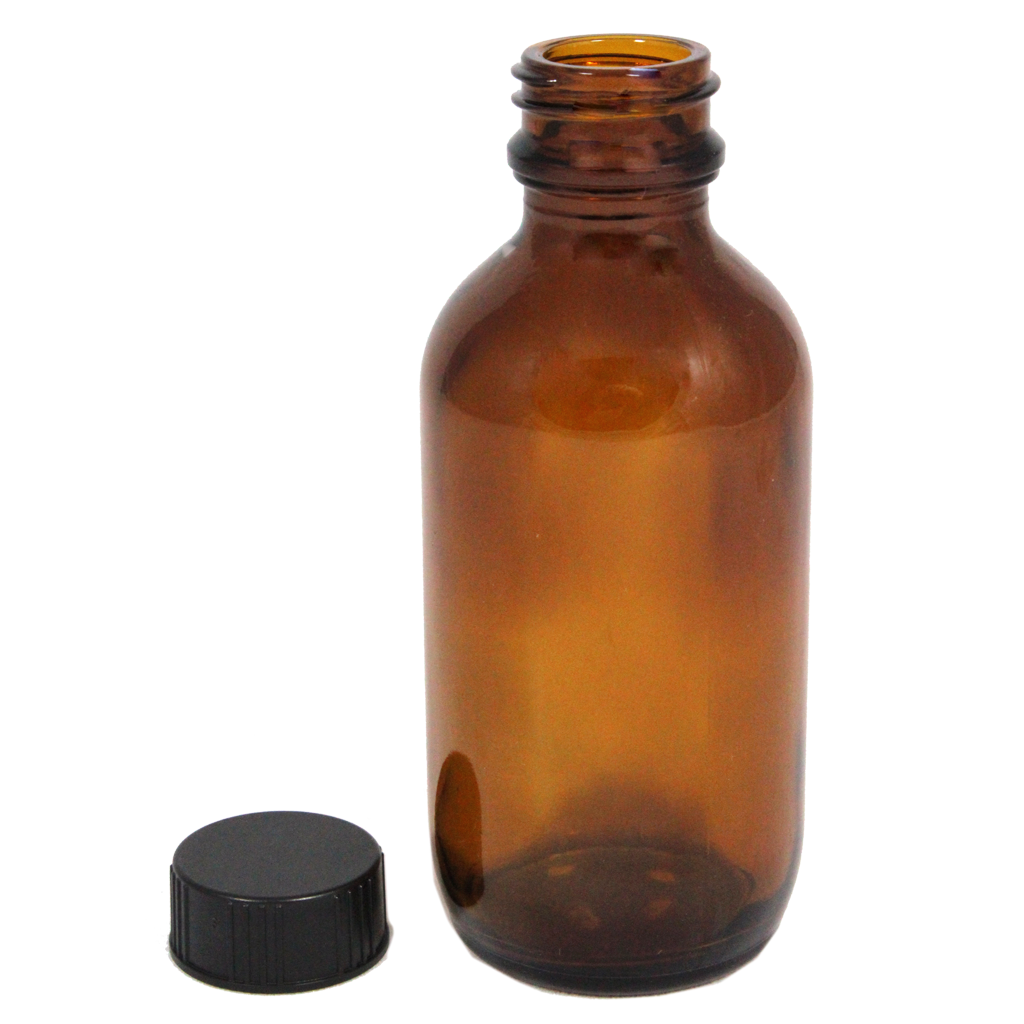 100mL amber glass bottle with cap 10-pack
