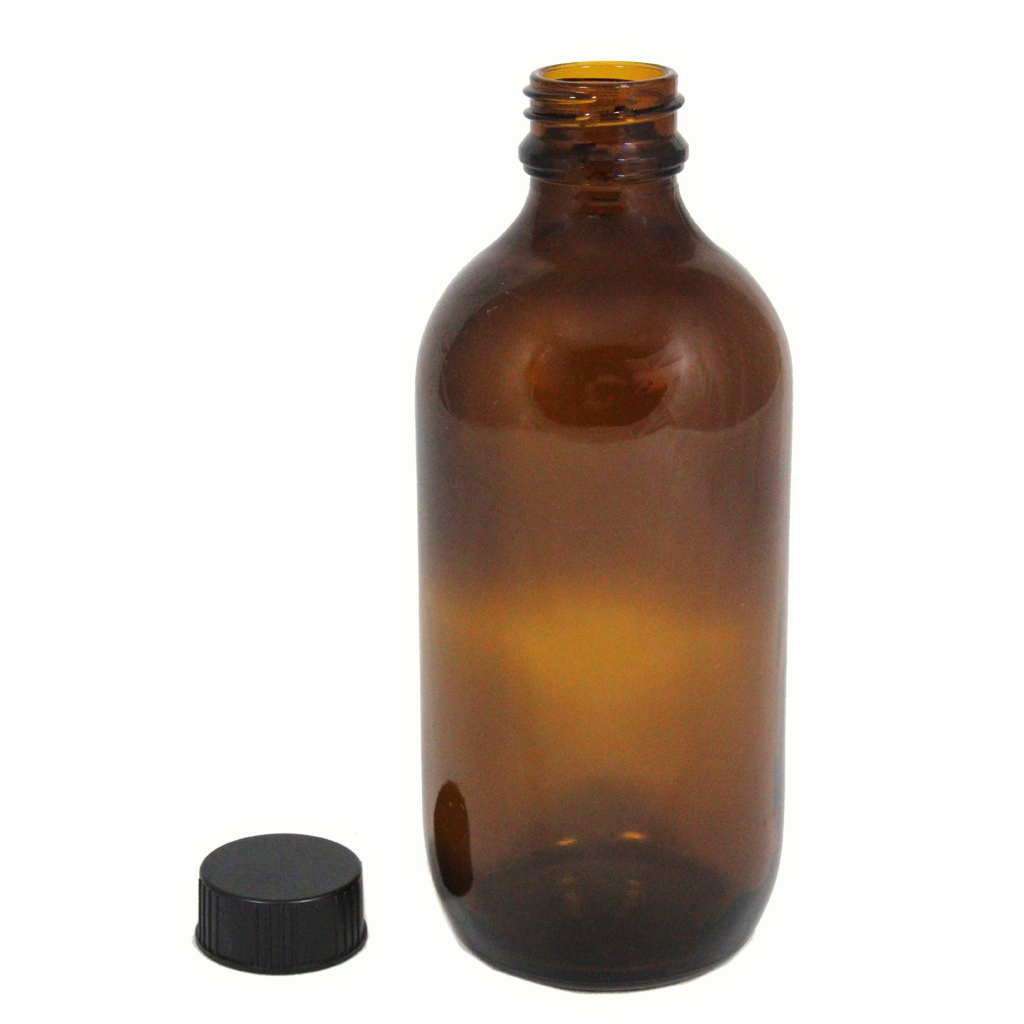200mL amber glass bottle with cap 10-pack