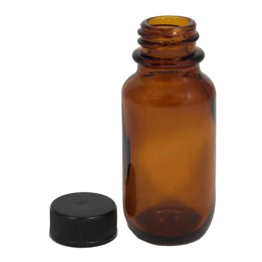 25mL amber glass bottle with cap 10-pack
