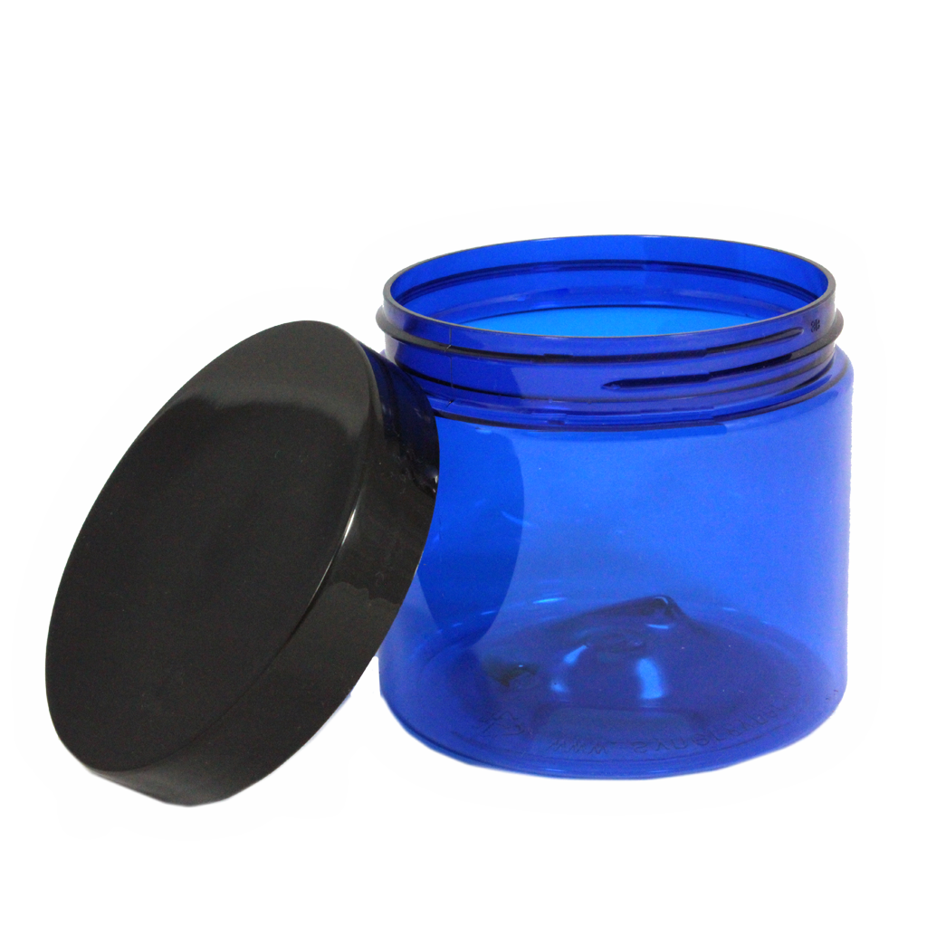 400g blue PET jar with lid