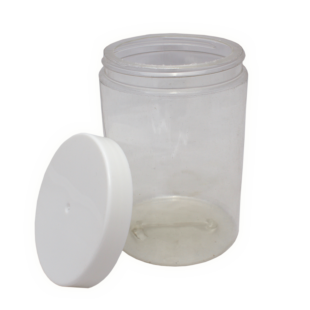 500mL clear PET tall jar with lid 10-pack