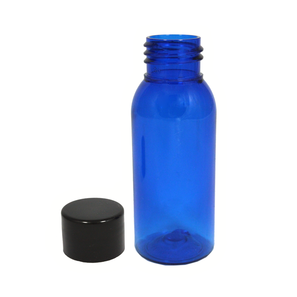 50mL blue PET bottle with cap 10-pack