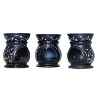 Essential Oil and Incense Burner Soapstone Deep Blue