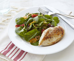 Chicken with Roasted Tomato Salad