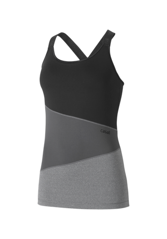 Asymmetric Crossback Tank - Black