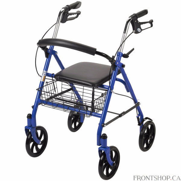 Supreme Durability, Safety and Quality In keeping with Drive Medical's tradition of fine craftsmanship and unmatched value, this Four Wheel Rollator Walker with Fold Up Removable Back Support continues to lead the charge when it comes to design, quality and value.A mobility aid in a league all of its own, this walker comes highly recommended by those who seek strength, support, durability and comfort, all mixed with a touch of class. The Four Wheel Rollator Walker comes complete with a padded backrest which