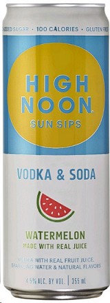 High Noon Sun Sips Vodka & Soda Watermelon - 4pk cans