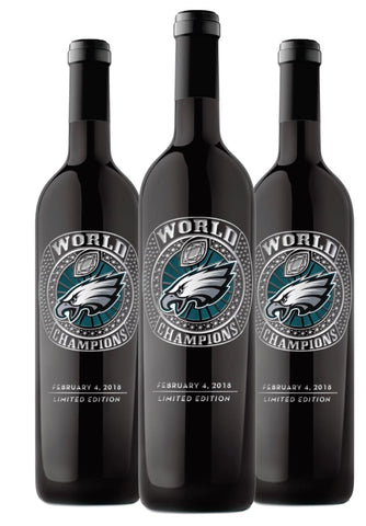 Mano's Philly Eagles Championship Ring Etched Red Blend Limited Edition