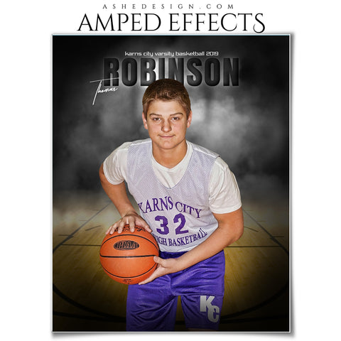 Ashe Design 16x20 Sports Poster for Baseball - In The Shadows Basketball