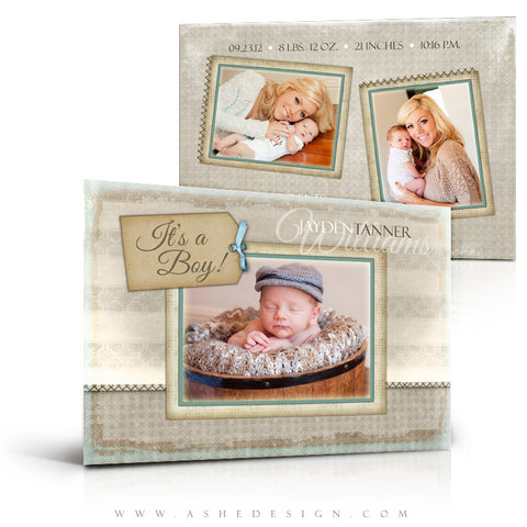 A Stitch In Time Birth Announcement Template