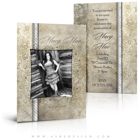 5x7 Flat Senior Girl Graduation Card - Macy Mae