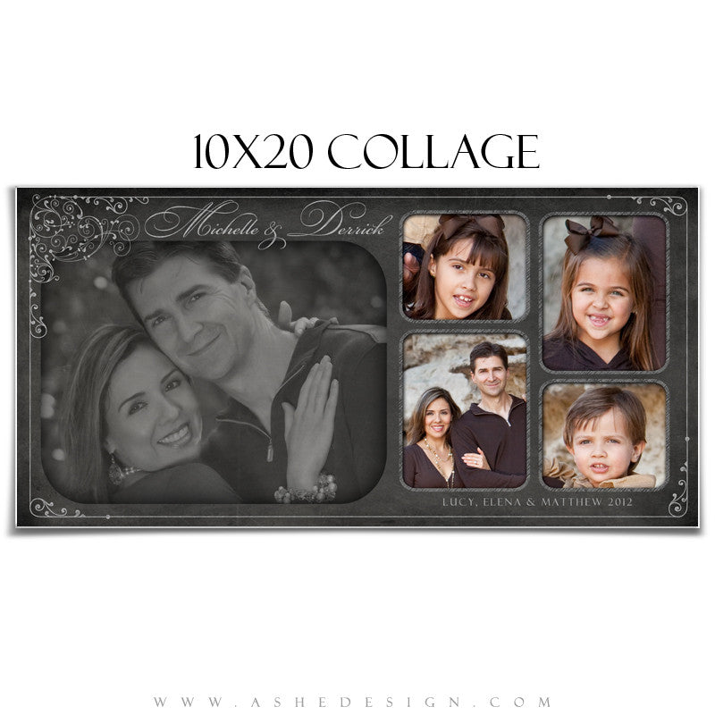 Collage Template (10x20) - Chalkboard