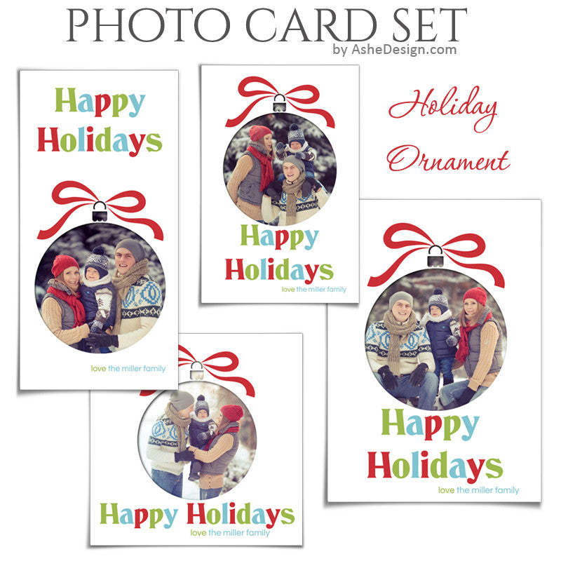 Christmas Photo Card Set - Holiday Ornament