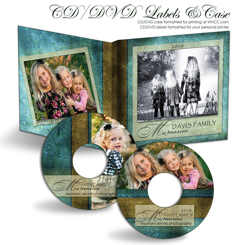 Blue Latte Damask | CD-DVD