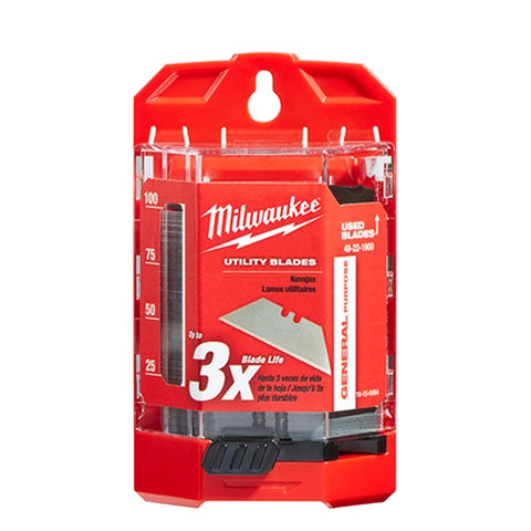 Milwaukee 48-22-1900 100 PC General Purpose Utility Blades w/ Dispenser