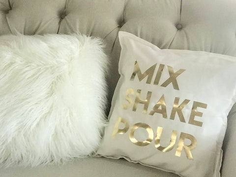 Mix Shake Pour pillow cover