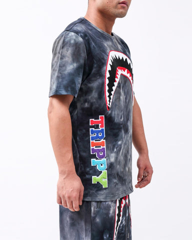 Hudson Trippy Tie Dye Shark Tee (Black)