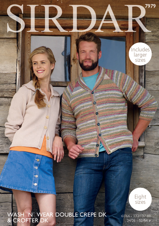 Sirdar 7979 - Cardigans in Sirdar DK Yarns Pattern - The Crafty Knitter Ltd - 1