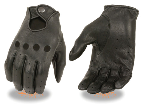 Copy of Women's Butter soft American Deer skin Perforated leather gloves with snap closure