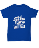Eat Sleep Play Softball Baseball Bat Ball T-Shirt - lkrseller shirts Men's T-Shirts, t-shirts, hoodies, tank tops, custom