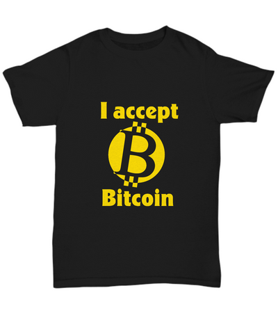 I Accept Bitcoin Cryptocurrency Virtual Money T-Shirt - lkrseller shirts Shirt / Hoodie, t-shirts, hoodies, tank tops, custom