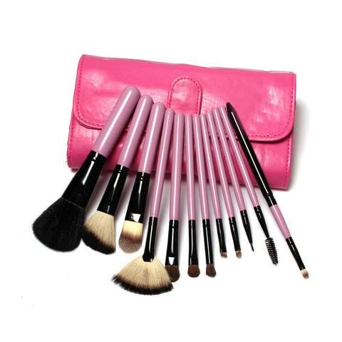 5pc  Toothbrush professional Makeup Rose Gold and Black Oval blush  set w/ Box