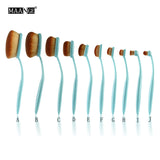 NAKEHOUSE-10Pcs  Oval Brush Toothbrush Shape Brush Set (Pink/Blue),Multiple brushes