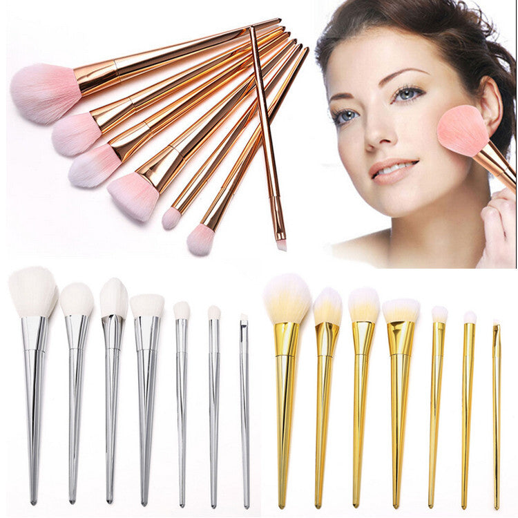NAKEHOUSE-7pcs Makeup Powder Foundation Eyeshadow Eyeliner Lip Brush Tool,Multiple brushes