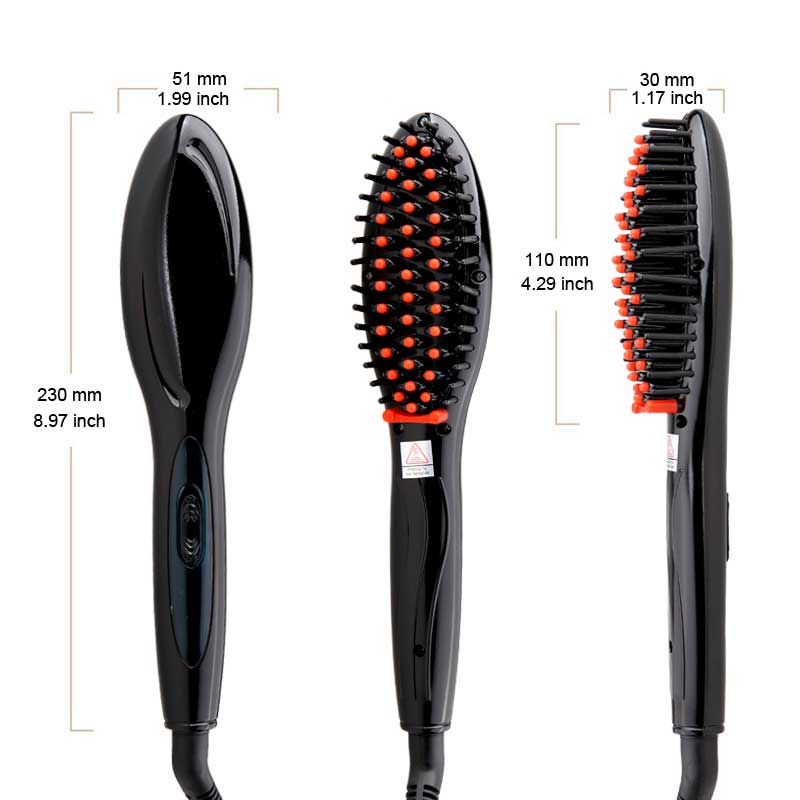 NAKEHOUSE-Electric Hair Straightener Brush,Hair