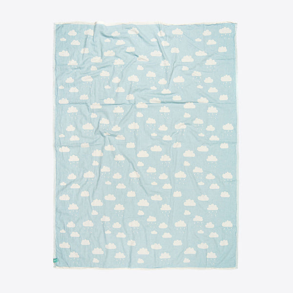 Kinderdecke mit Wolken Minze (Kids Cloud Towel Mint)