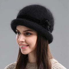 Hats & Caps - Purple Relic: Rabbit Fur Hat For Women ~ Beanies ~ Skullies