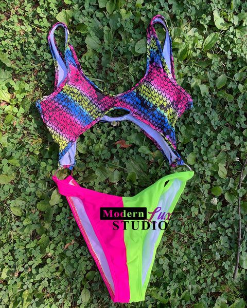 Colorful Snake Swimsuit