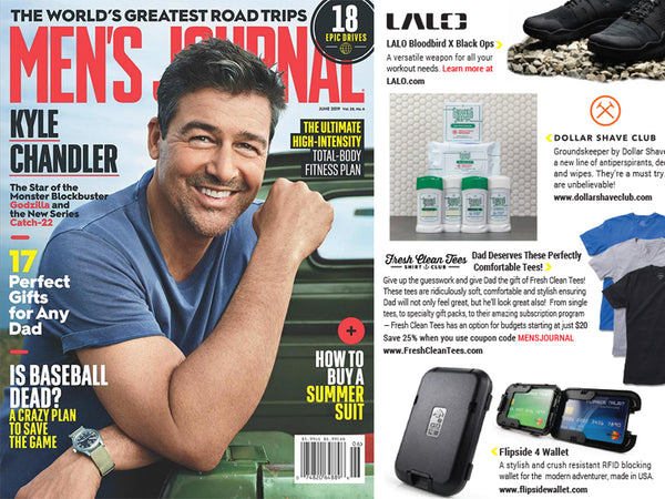 Flipside® 4 Wallet Featured in Men's Journal