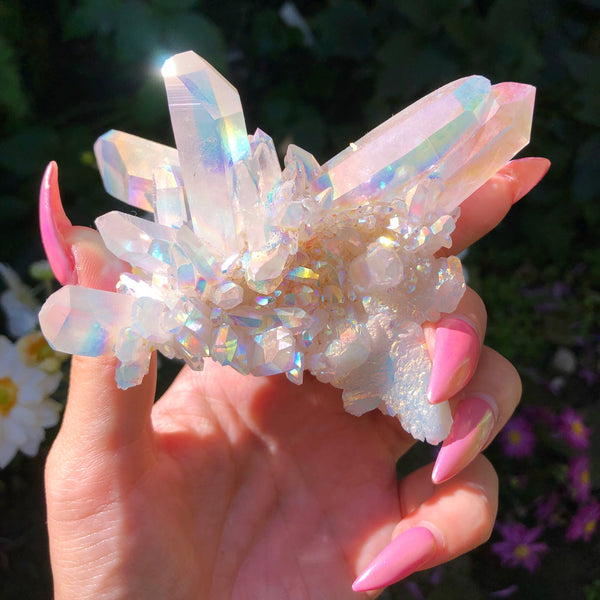 Angel Aura Quartz XL cluster