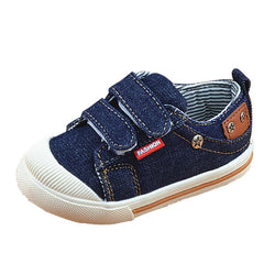 Blue Jean Canvas Denim Baby Sneakers