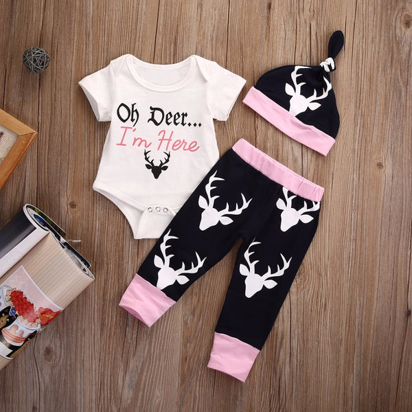 Oh Deer I'm Here Romper Outfit