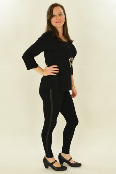 Black & Bling Cotton Leggings