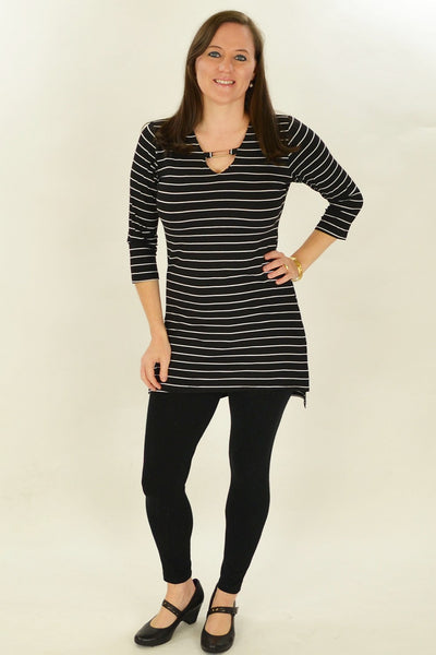 Black Stripe Belinda Tunic