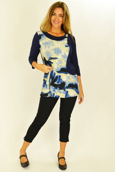 Blue Art Tunic