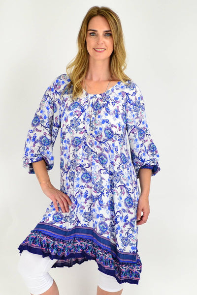 Blue Tammy Tunic Dress | I Love Tunics | Tunic Tops | Tunic Dresses | Women's Tops | Plus Size Australia | Mature Fashion