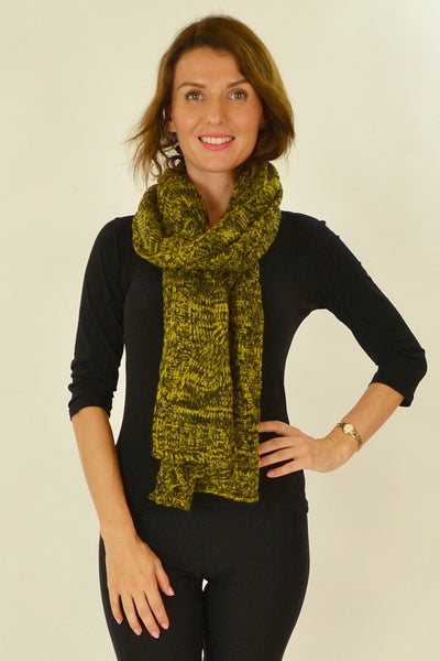 Yellow Black Pocket Scarf - at I Love Tunics @ www.ilovetunics.com = Number One! Tunics Destination