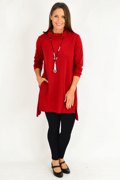 Brick Red Swing Skivvy Tunic